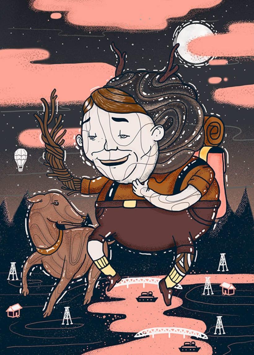 El colombiano Diego Bedoya ilustra inspirado en los 90's  14