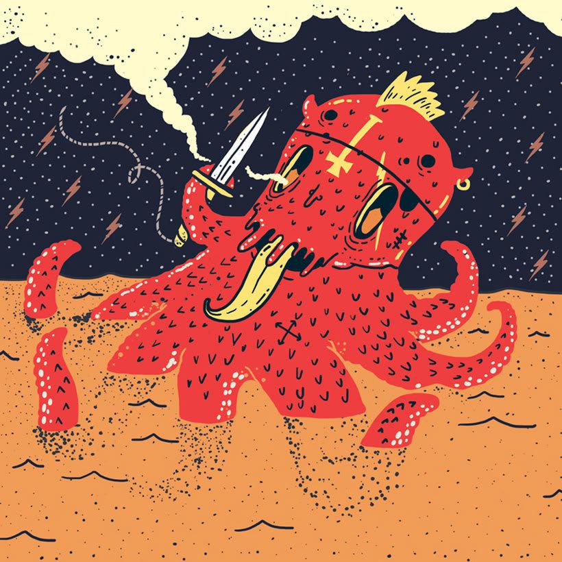 El colombiano Diego Bedoya ilustra inspirado en los 90's  17