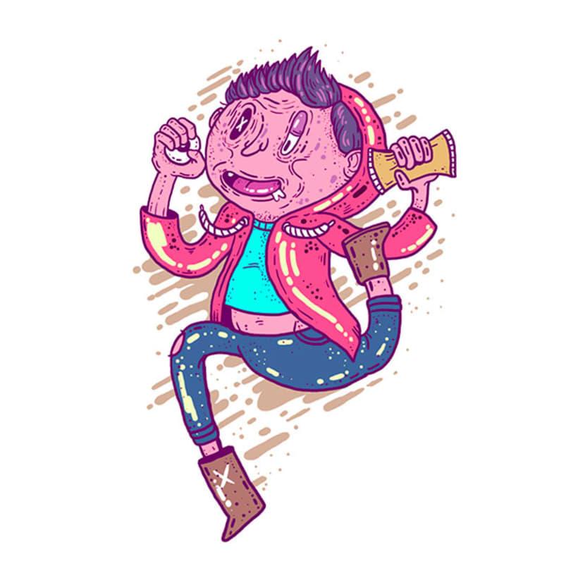 El colombiano Diego Bedoya ilustra inspirado en los 90's  18