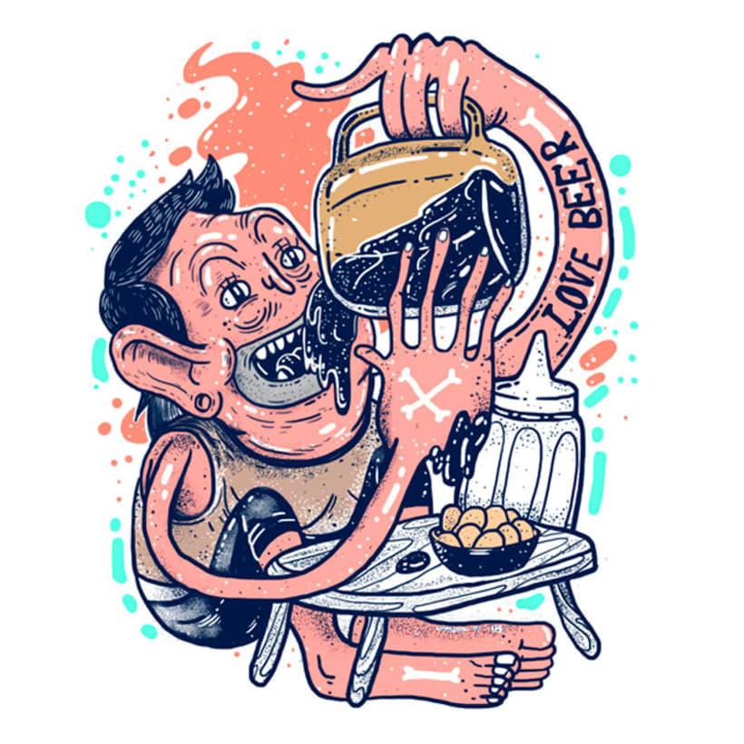 El colombiano Diego Bedoya ilustra inspirado en los 90's  20