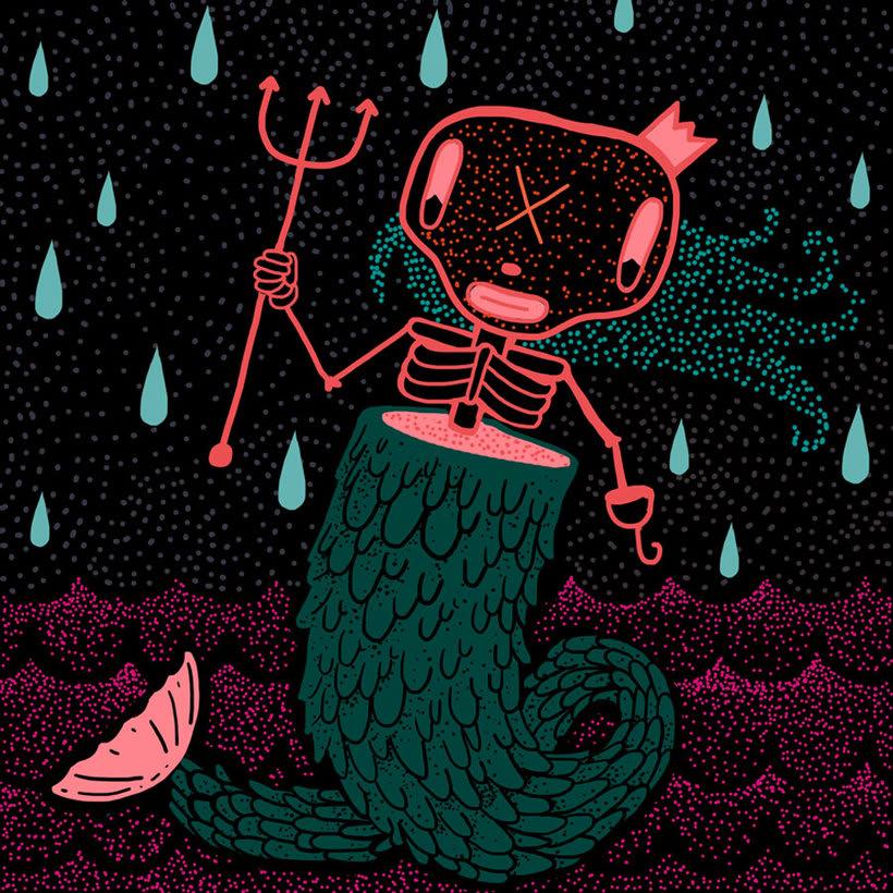 El colombiano Diego Bedoya ilustra inspirado en los 90's  21