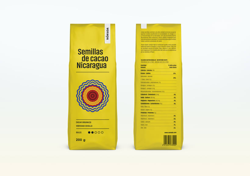 Packaging Cacao Nómada 2