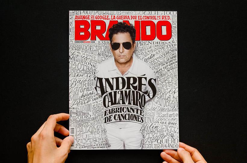 BRANDO Mag – Lettering de Portada y Nota Principal 4
