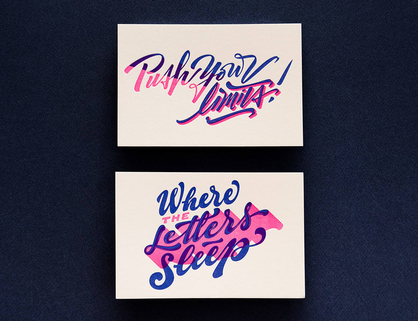 Yani & Guille – Letterpress Postcards 2