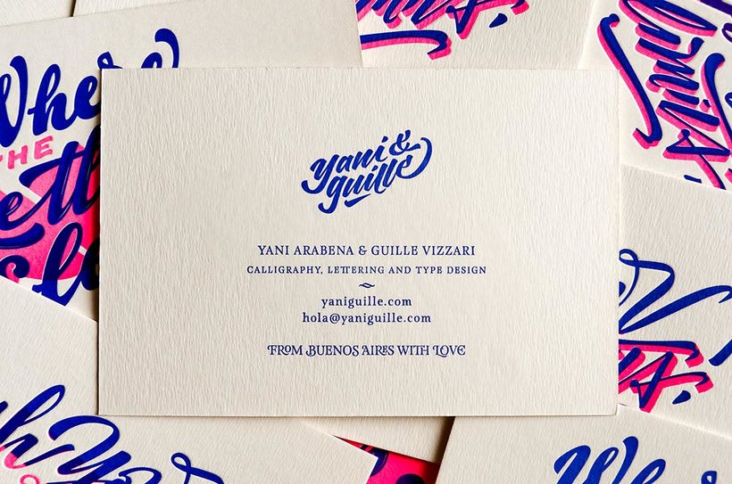 Yani & Guille – Letterpress Postcards 5