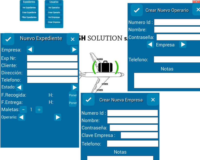 Rush Solution Aministrator,App para empresa de reparto, Android, PC e IOS 0