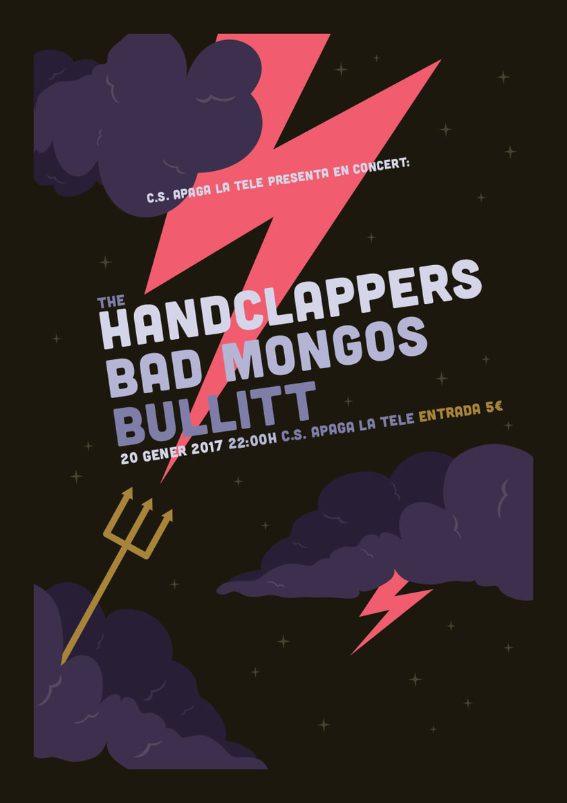 The Handclappers + Bad Mongos + Bullitt -1