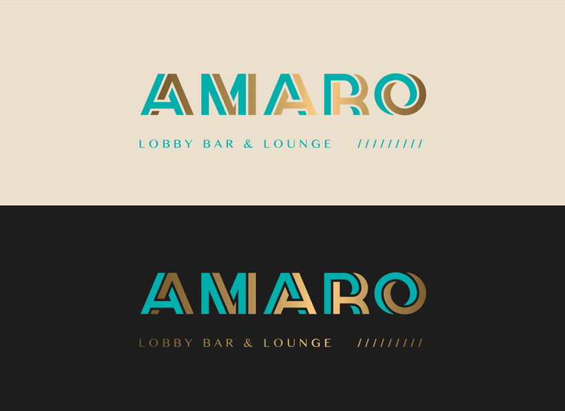 Amaro, Lobby Bar & Lounge_Naming e Identidad Gráfica 1