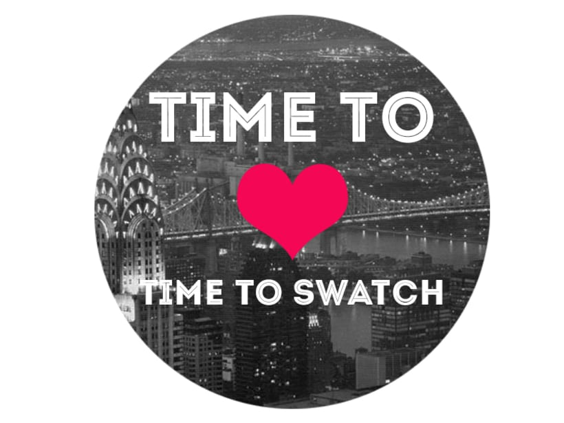 "CAMPAÑA SWATCH. SLOGAN ""TIME TO LOVE, TIME TO SWATCH"" 0"