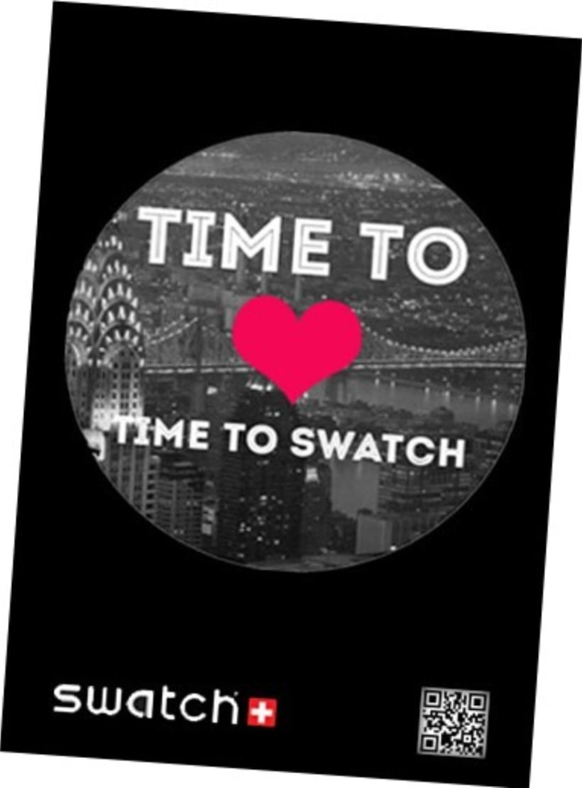 "CAMPAÑA SWATCH. SLOGAN ""TIME TO LOVE, TIME TO SWATCH"" 1"