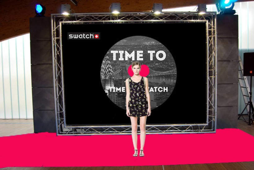 "CAMPAÑA SWATCH. SLOGAN ""TIME TO LOVE, TIME TO SWATCH"" 6"