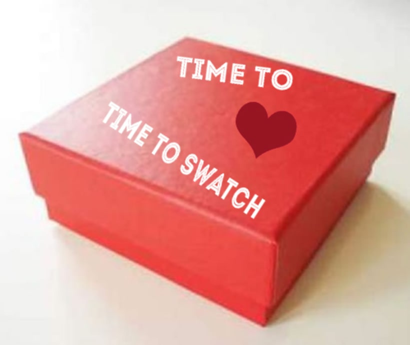 "CAMPAÑA SWATCH. SLOGAN ""TIME TO LOVE, TIME TO SWATCH"" 7"