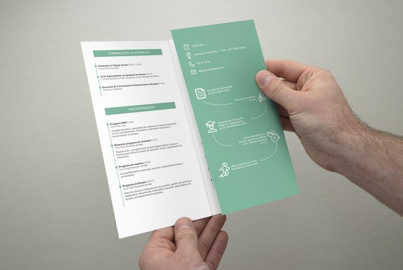 Diseño y maquetación de un currículum para una Trabajadora Social. 2