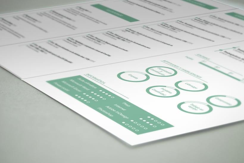 Diseño y maquetación de un currículum para una Trabajadora Social. 5