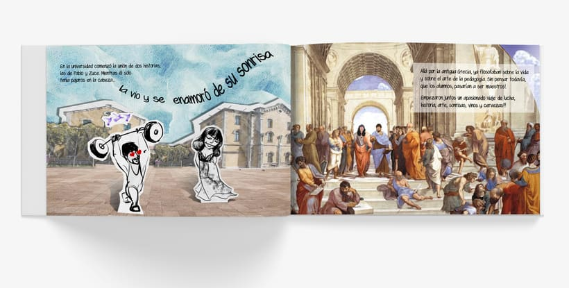 Libro ilustrado para regalo de boda. <<Historia de dos historias>> 1