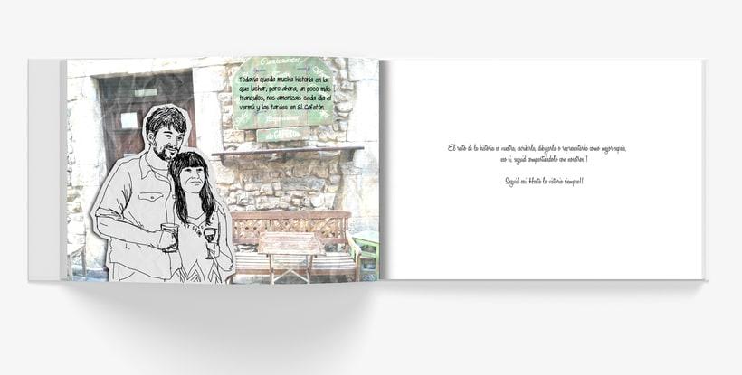 Libro ilustrado para regalo de boda. <<Historia de dos historias>> 5