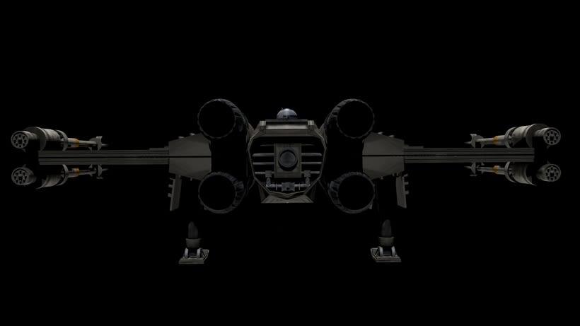 Modelado 3D  //  X-Wing 3