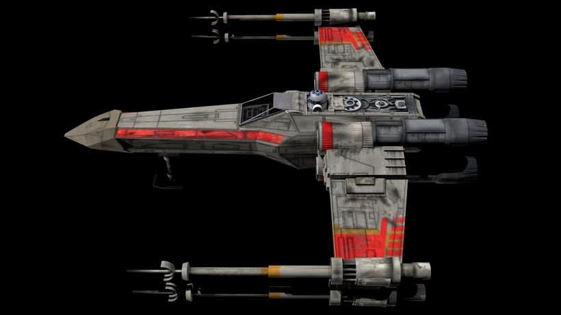 Modelado 3D  //  X-Wing 4