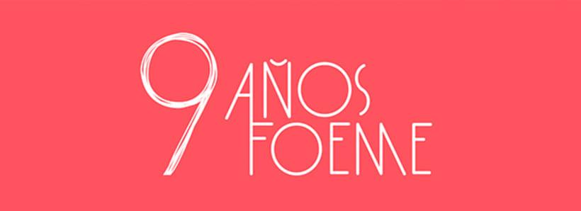 Gráficos y cartel para el noveno aniversario de la banda de rock Foeme 0