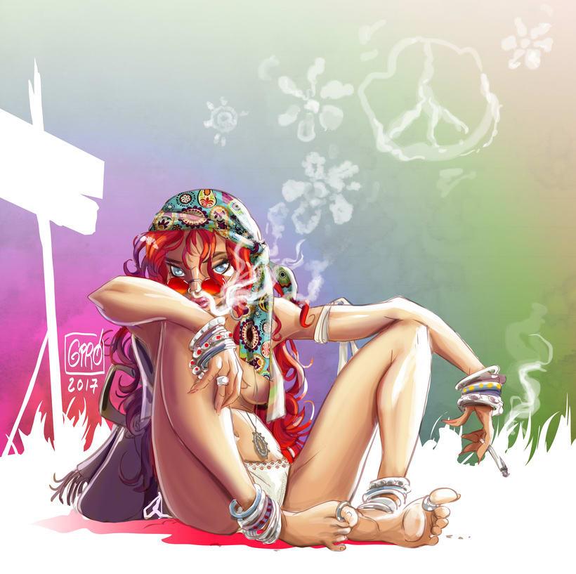 Smoking Hippie -1