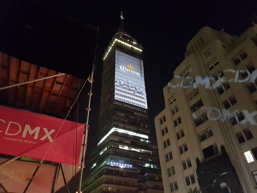 Vídeo mapping billboard Corona Capital 2016 - Torre Latino CDMX 0