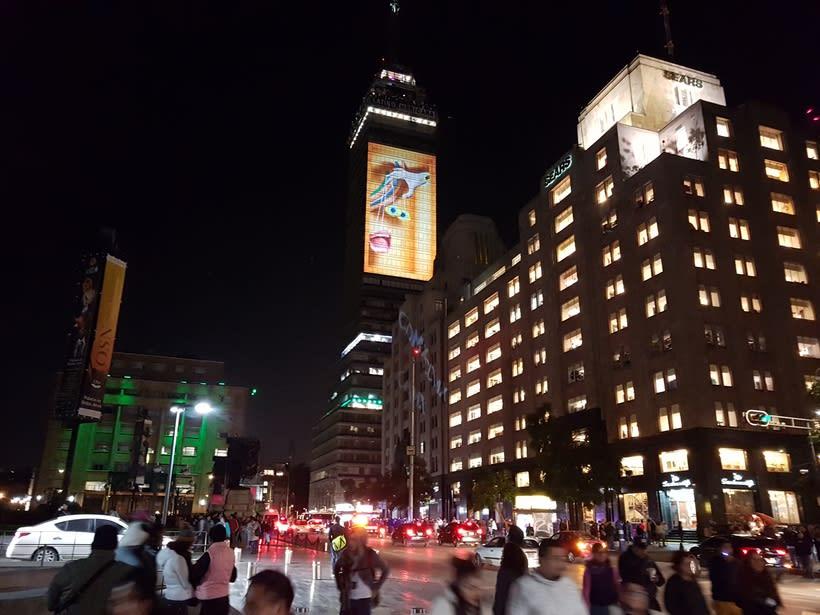 Vídeo mapping billboard Corona Capital 2016 - Torre Latino CDMX 2