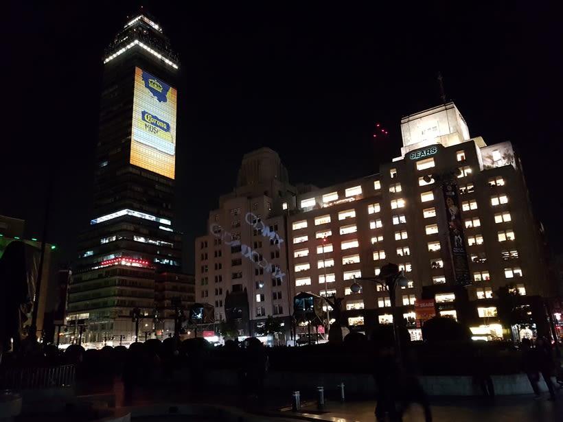 Vídeo mapping billboard Corona Capital 2016 - Torre Latino CDMX 5