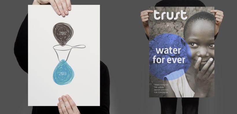 Identidad Corporativa TRUST de ITA / Universitat Politécnica de València . Proyecto científico financiado por la UE sobre la gestión del agua para el futuro 2