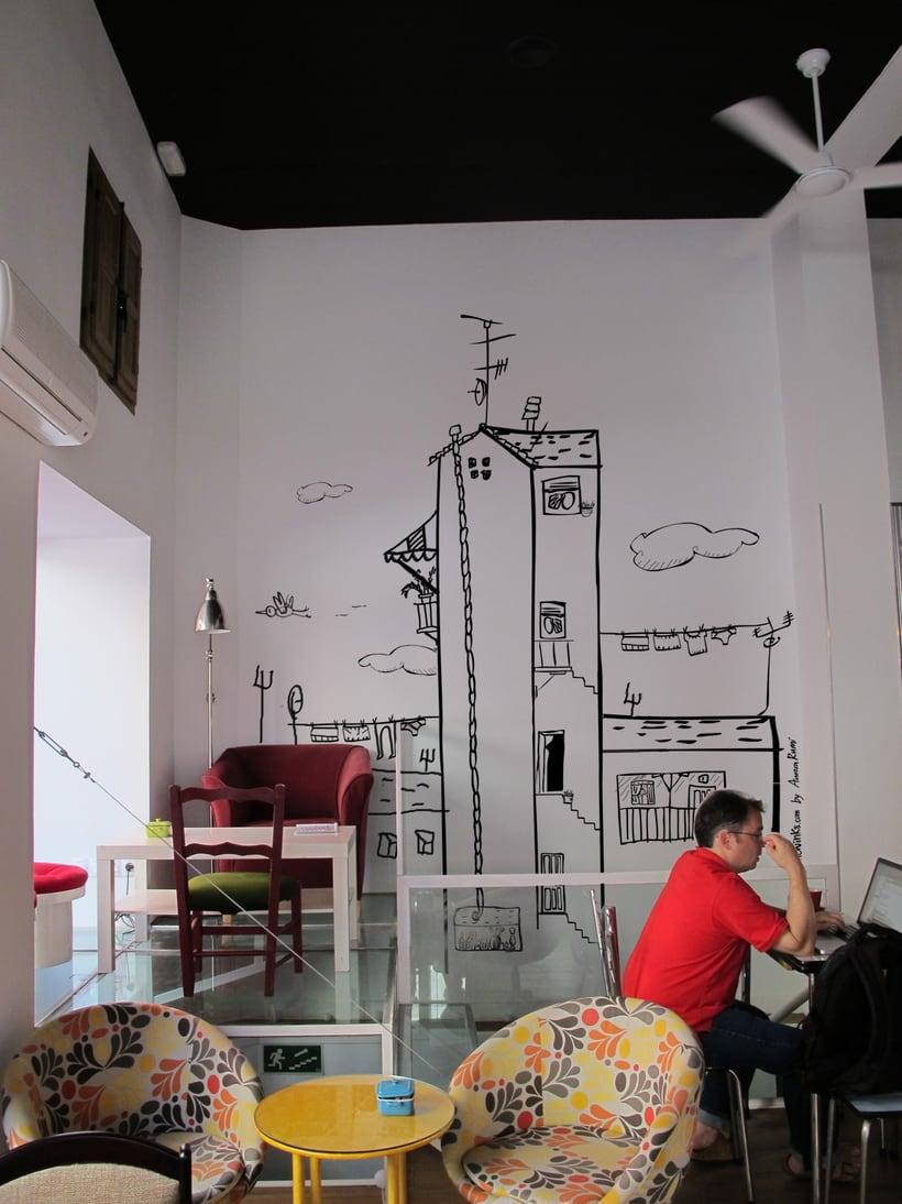 La Infinito . Ilustracion Mural. 0