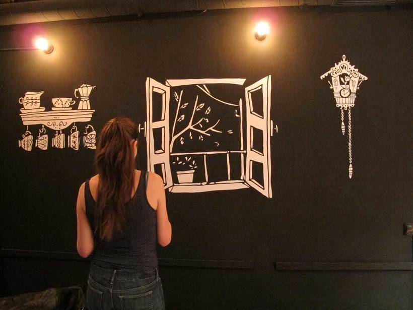 La Infinito . Ilustracion Mural. 5