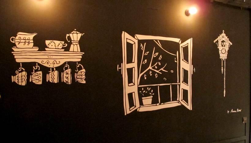 La Infinito . Ilustracion Mural. 7