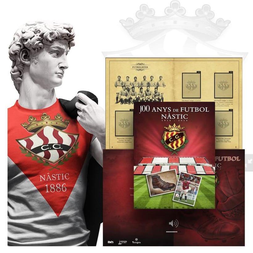 Álbum de Cromos de futbol Centenario - Club Nàstic de Tarragona -1