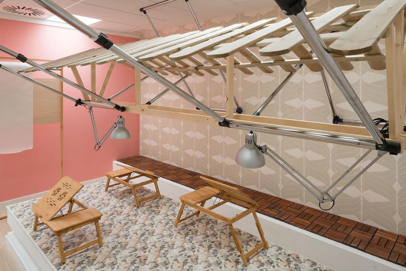 Izaskun Chinchilla diseña un coworking con 'Ikea Hacks' 14