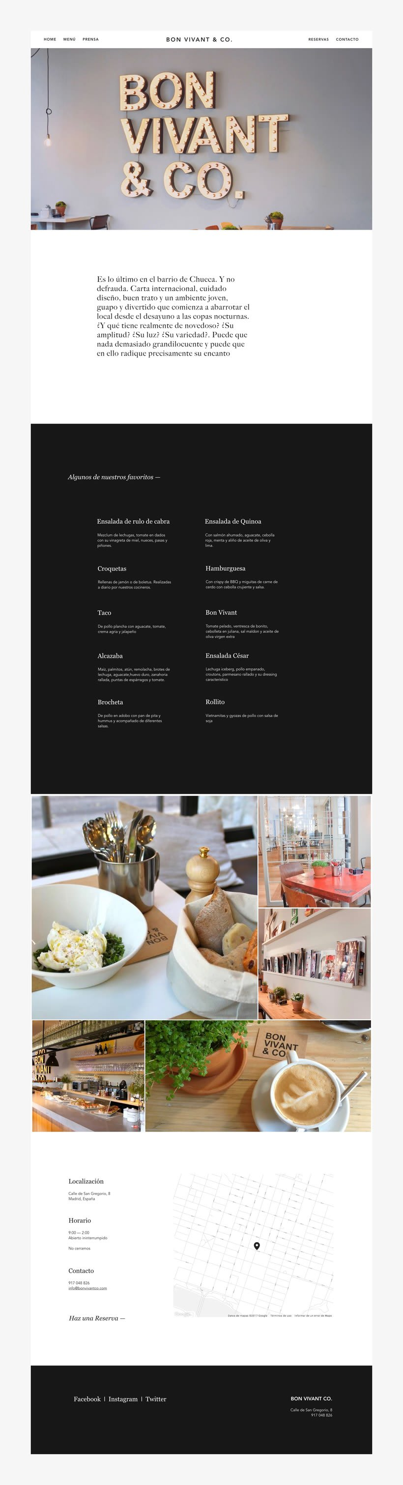 Bon Vivant & Co. Website 1