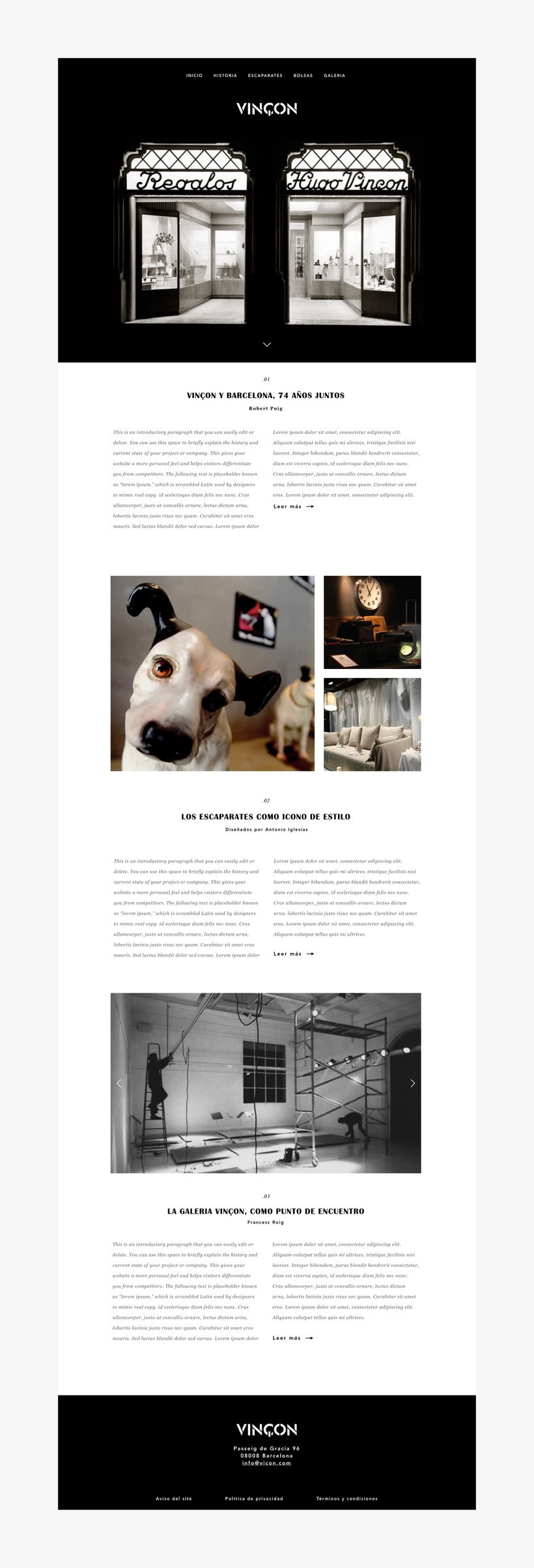 Vinçon Website 1