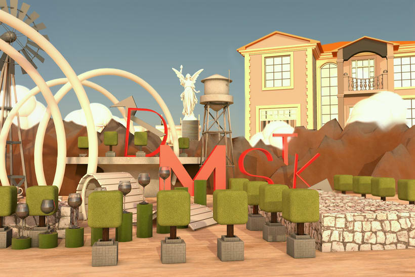 Gardens of DMSTK: Dirección de Arte con Cinema 4D -1