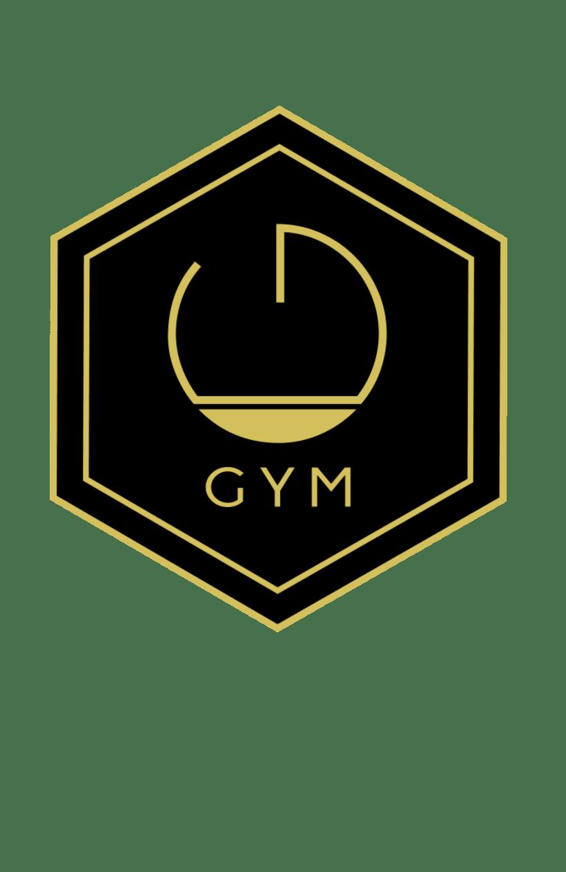 diseño logo gym premium training domestika