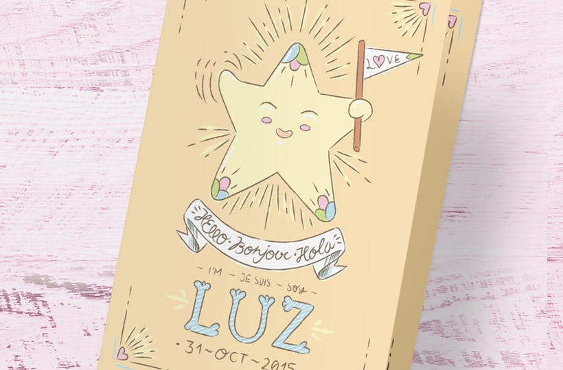 BABY LUZ · New born greeting card design and illustration  0