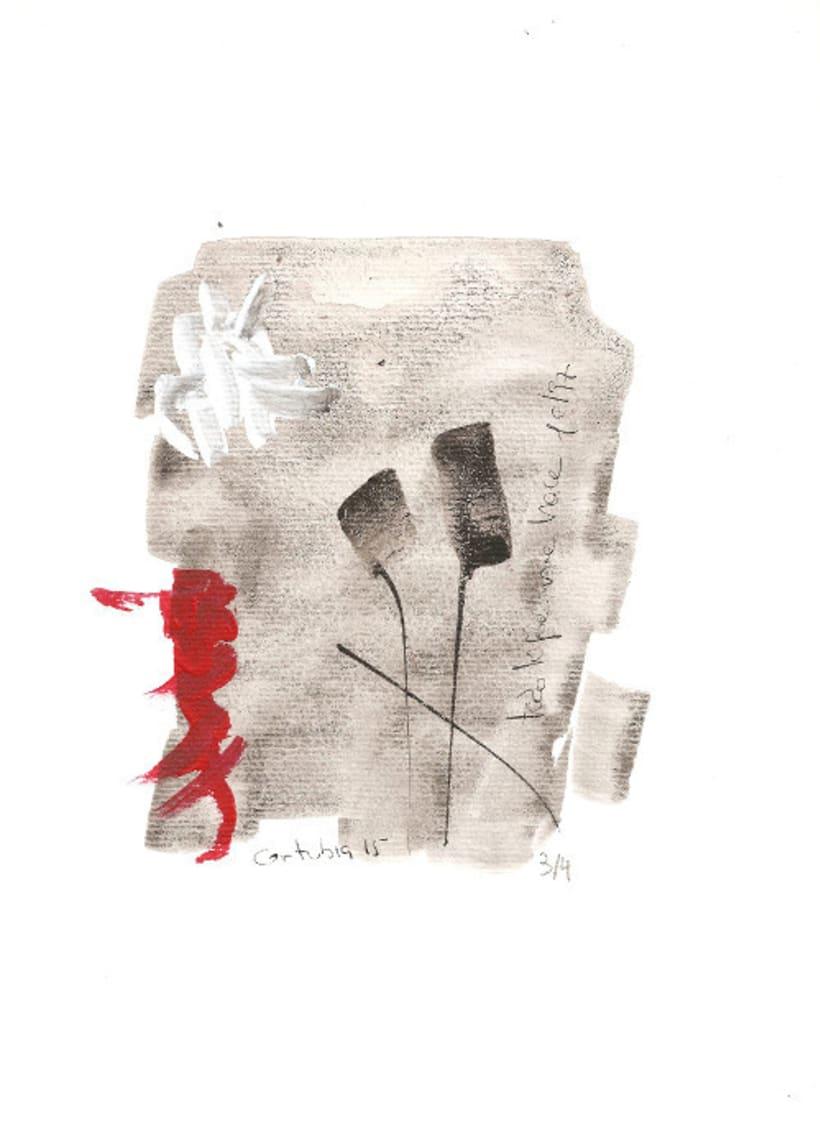Serie mensaje entre tinta. Tinta china y acrílico sobre papel 1