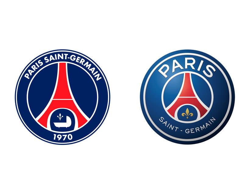 4 logotipos de fútbol antes y después de ser rediseñados 8