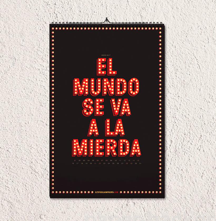 Calendario tipográfico made in Spain 1