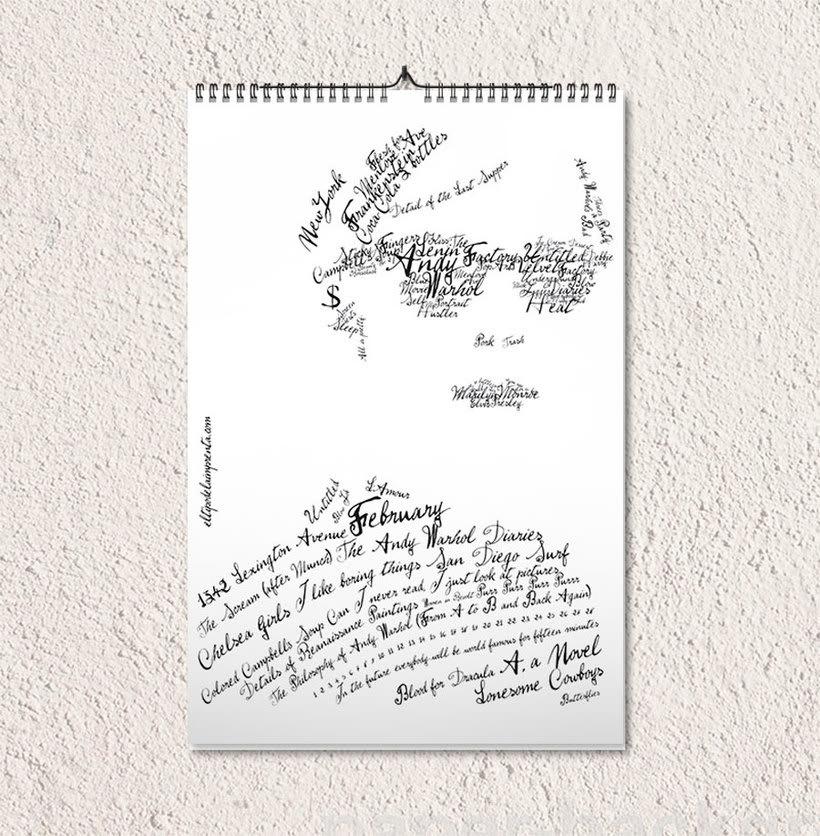 Calendario tipográfico made in Spain 3