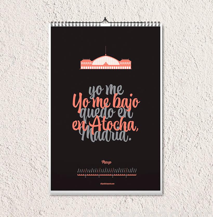 Calendario tipográfico made in Spain 5
