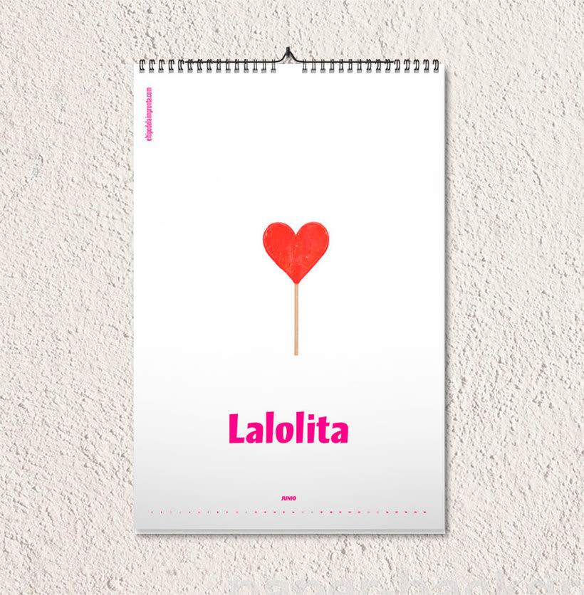 Calendario tipográfico made in Spain 8