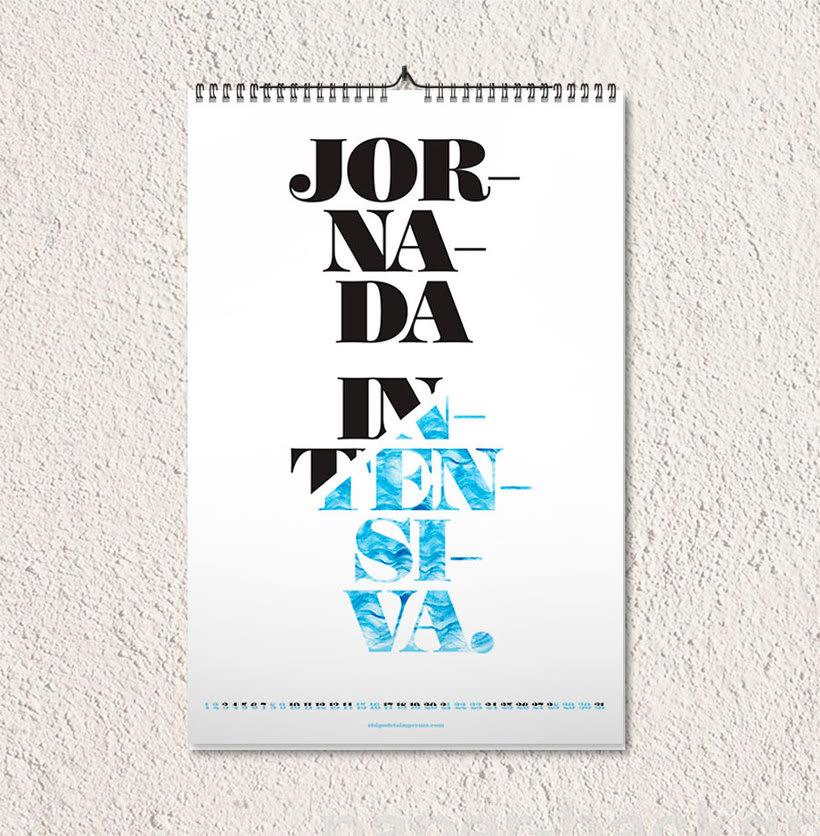 Calendario tipográfico made in Spain 9