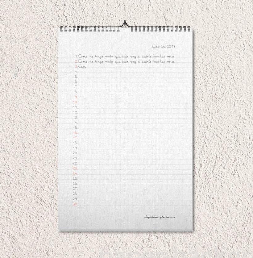 Calendario tipográfico made in Spain 11