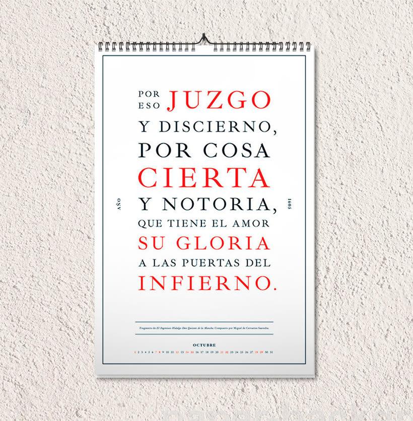Calendario tipográfico made in Spain 12