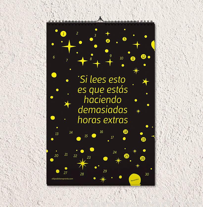 Calendario tipográfico made in Spain 13