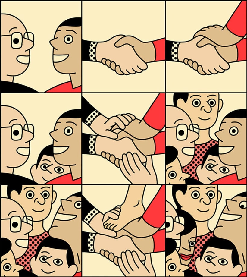 Ilustraciones animadas en clave de cómic de Simon Landrein 3