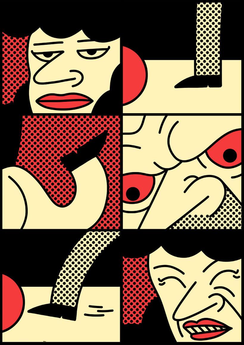 Ilustraciones animadas en clave de cómic de Simon Landrein 5